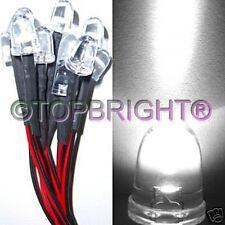 10PC 12V Wired 10mm 140Kmcd White LED for CAR,RV,RC,PC
