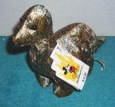 """Disney World Animal Kingdom Dinosaur Brontosaurus 8"""" Plush Bean Bag Toy"""