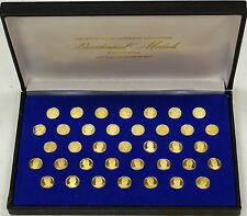 White House Historical Association 24kt Proof Gold Presidential Medals, Franklin