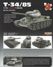 Imex/Taigen T34/85 (Metal Version) Airsoft 2.4 Ghz RTR RC Tank 1/16 Scale