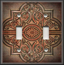 Metal Light Switch Plate Cover Wallplate Rustic Medallion Home Decor Dark Copper