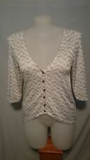Gordon Smith Ladies Blouse in a Gold and White Stretch Fabric Size Large
