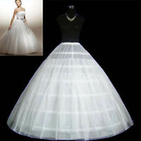 3 Hoop 2 Layer wedding Dress petticoat Crinoline Underskirt bridal Gown WHITE