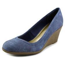 Zapatos de tacón de mujer plataformas de color principal azul sintético