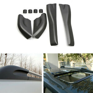 Car Roof Rack Rail End Cover Shell Replacement Black For Hyundai Tucson 2004-08