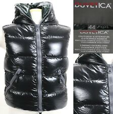 Duvetica Women's $450 Goose Down Hooded Winter Vest Size 44 Medium Black