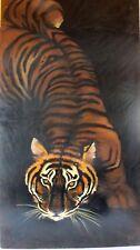 hsp huile sur panneau tigre signé tribut peinture tableau tiger