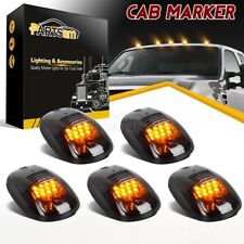 5pc Smoke Cab Roof Marker Lights Yellow for 2003 - 2018 Dodge Ram 2500 3500 4500