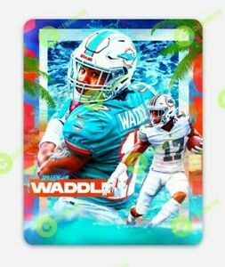 Jaylen Waddle Miami Dolphins MAGNET - NFL Miami Vice Rookie Vinyl Florida WR