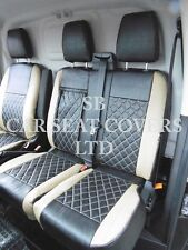 TO FIT A FORD TRANSIT CUSTOM VAN, SEAT COVERS, FLAT BED, BEIGE / BK BENTLEY D