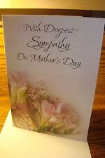 MOTHER'S DAY: With Deepest Sympathy on Mother's Day * Embossed   New   c47