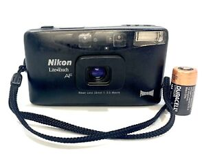 Rare Nikon Lite Touch AF Panorama Compact Camera 28mm 1:3.5 Macro Lens Tested