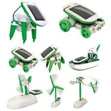 Creative DIY 6in1 Educational Learning Power Solar Robot Kit Children Toys CBca