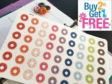 PP171 -- Small Donut Icons Life Planner Stickers for Erin Condren (54pcs)