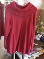 Coldwater Creek Women's sz Medium Long Sleeve Turtleneck Knitted Sweater