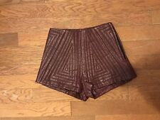 Shakuhachi Quilted Leather Shorts
