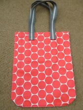 Brand New Johnnie B by Boden Oil Cloth Tote Bag / Book Bag in Fab Neon Spots
