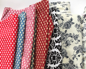100% Cotton Fabric Remnant 30x50cm piece, Damask, Floral, Heart or Star print