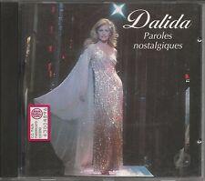 DALIDA - Paroles nostalgiques - CD 1993  MINT CONDITION