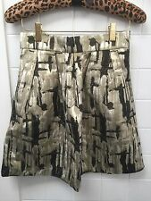 Avocado Size 6 Black Metallic Gold Skirt Dressy Formal Party EUC
