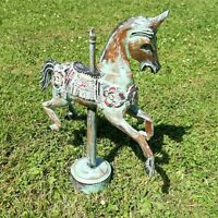 Carousel Horses Fairground Hand Carved Wood Vintage Horse Fair Trade on Stand