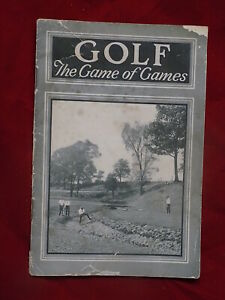 1910's Golf The Game of Games 24 page book by MacGregor