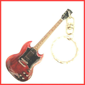 AC/DC ANGUS YOUNG GUITARE MINIATURE PORTE CLE! Metal Heavy Hard Rock Electric SG
