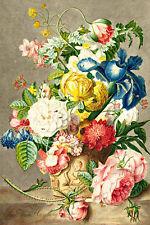 Flower Piece A1 by Jan van Huysum High Quality Canvas Print