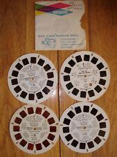 Vintage 1980 Walt Disney Pluto 1-3 & Fox And Hound B View Master 4 Disks Reels