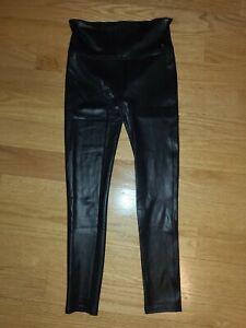 SPANX Faux Leather Leggings 2437Q Black Size M (Petite)