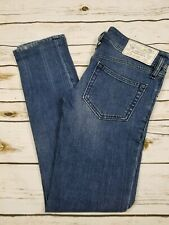 Diesel Matic Blue Jeans Low Rise Stretch Slim Tapered Womens 25