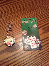 poker chip Key Chain ring fob hot rat rod mopar chevy ford vw pontiac olds vw