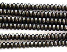 16 Inch Gemstone Hematite 4mm Rondelle Beads