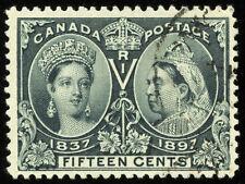 Canada #58   F-VF Used   15¢ Steel Blue