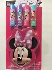 Disney Minnie Mouse Lip Balm 4pk & Collector Tin - New - Sealed - Free Shipping