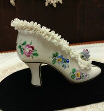 """ANTIQUE/VINTAGE PORCELAIN COLLECTIBLE SHOE, MARKED GERMANY, """"DRESDEN"""""""