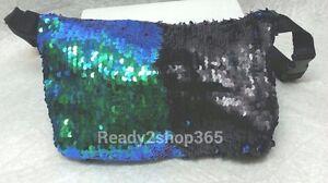 Sequins Reversible Hip Purse Mermaid Glitter Waist Bag Fanny Pack Pouch Travel