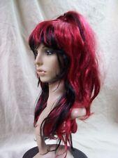 Sugar & Spice Wig Dark Red Black Ponytails Elektra Warrior Scarlet Witch 80s 90s