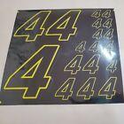 BLACK CHROME w yellow #4's Decal Sticker Sheet 1/8-1/10-1/12 RC Models