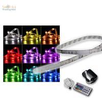 5m Flexible RGB LED Strip con fuente alimentación & Control Remoto Banda De Luz