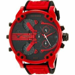 new Diesel Mr Daddy 2.0 Chrono DZ7431 Three-Hand & Red Silicone Men's Watch