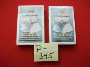 BRAND NEW 1-OPEN BOX 1-SEALED VINTAGE COLLECTIBLE CARNIVAL CRUISE PLAYING CARDS