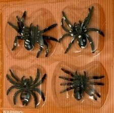 """Black Resin 2.5"""" Streatchy Halloween Spiders Lot of 4"""