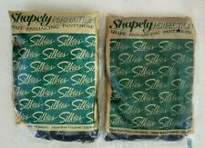 Lot of 2 Vintage Silkies Shapely Perfection Pantyhose X-Queen - Black & Navy