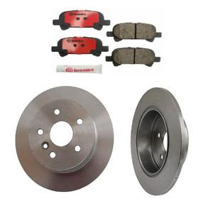 Brembo Rear Brake Kit Ceramic Pads and Disc Rotors For Toyota Avalon 2000-2003