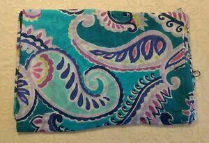 NWT Vera Bradley Soft Fringe Scarf Wrap Shawl in Wikiki Paisley Travel Cover
