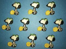 10 Lot Vintage 1970's Snoopy Peanuts Tennis Embroidered Hat Jacket Patches B