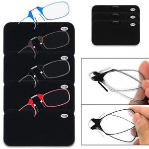 Flexible Portable Mini Nose Clip Reading Glasses Wallet Pocket Phone 1.0 2.0 3.0