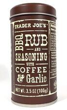 Trader Joe's BBQ Rub & Seasoning with Coffee & Garlic 3.5oz Can