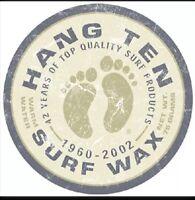 Hang Ten Surf Wax Surfing Beach Round Distressed Retro Vintage Metal Tin Sign